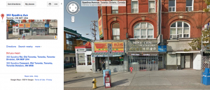 352 Spadina Ave. 2014 Google Maps