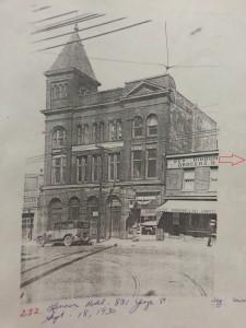 846 Yonge Street neighboring buildings, 1930