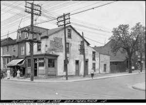 Laundry and residence on Adelaide street.  Source: Toronto Archives