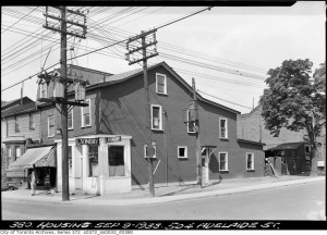 Laundry and residence on Adelaide St. in September 1938.  Source: Toronto Archives