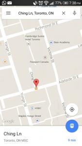 Screenshot of Ching Lane.  Source: Google maps