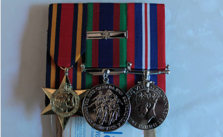 These were the medals given to Victor Wong for his participation in World War II. 2011. University of Victoria, Victoria. University of Victoria Digital Collections. Web. 16 July 2015.